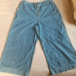 Lauren Conrad Jeans Wide Leg Cropped Denim Pants